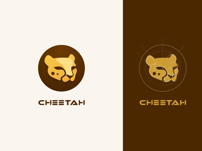 Cheetah Logo Design design yellow sketch logo icon cheetah