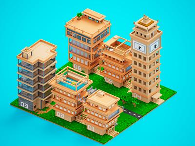 My Little Houses city houses buildings 3d magicavoexl