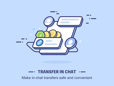Transfer in Chat illustration transfer design shetch chat