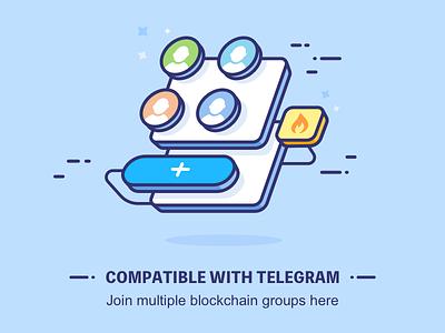 Compatible with Telegram illustration,shetch,design,group telegram,