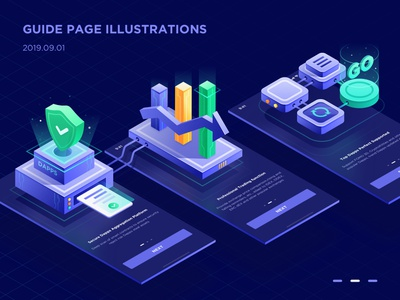 Guide Page Illustrations isometric 2.5d ui ux illustration design sketch