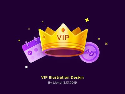 VIP Illustration Design vip icon ui design illustration sketch
