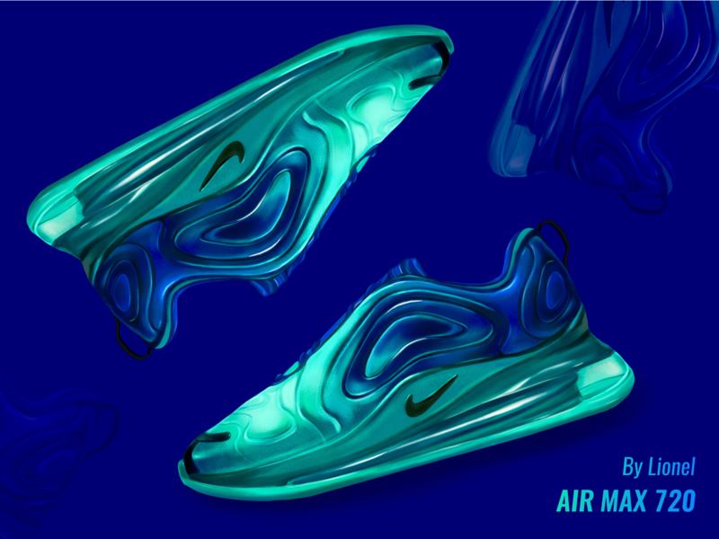 Air Max 720 procreate 720 nike air max design illustration