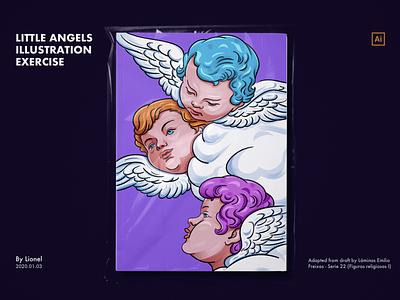 Little Angels Illustration  exercise exercise design illustration