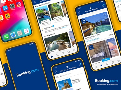 Booking.com Mobile UI Redesign app booking hotel ios app design booking.com