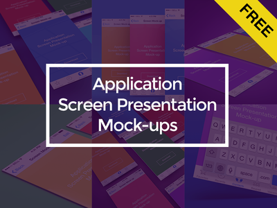 Freebie - App Screen Presentation Mock-ups #1