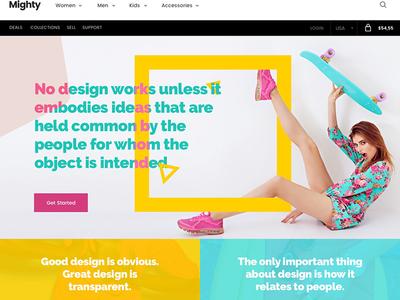 Free e-Commerce Landing Page UI by Richard Wearn - Dribbble