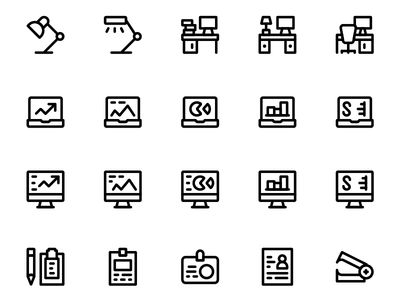Simple Office Icons │Smashicons.com