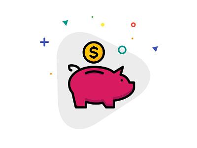 Ecommerce icons design piggy bank ecommerce. iconfinder user interface ux ui design icons icons