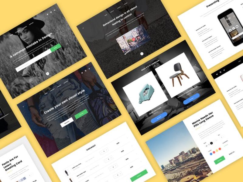 Webster Material Design UI Kit │designerbundle.com