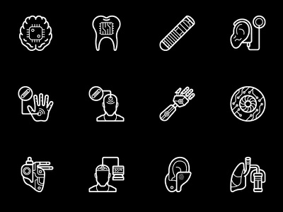 Cybernetic Icons │Smashicons.com technology icons icon future cybernetics android  black friday