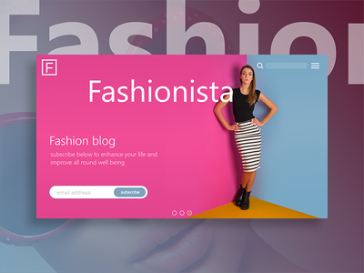 Adobe XD First Experiment - Landing Page fashion blog prototype adobe xd