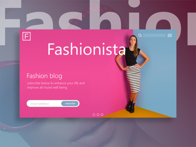 Adobe XD First Experiment - Landing Page fashion blog prototype adobe xd