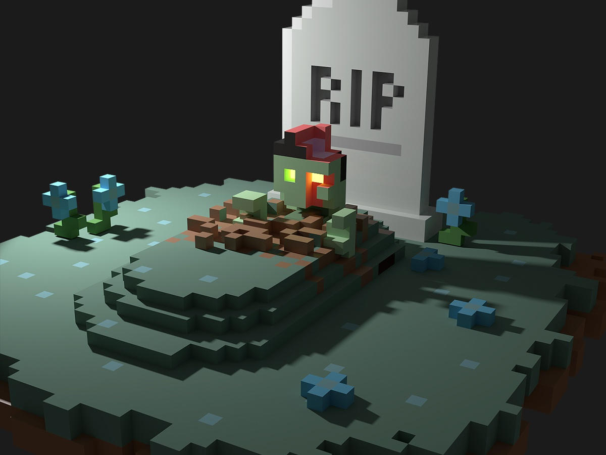 3d Pixel Art By Richard Wearn On Dribbble