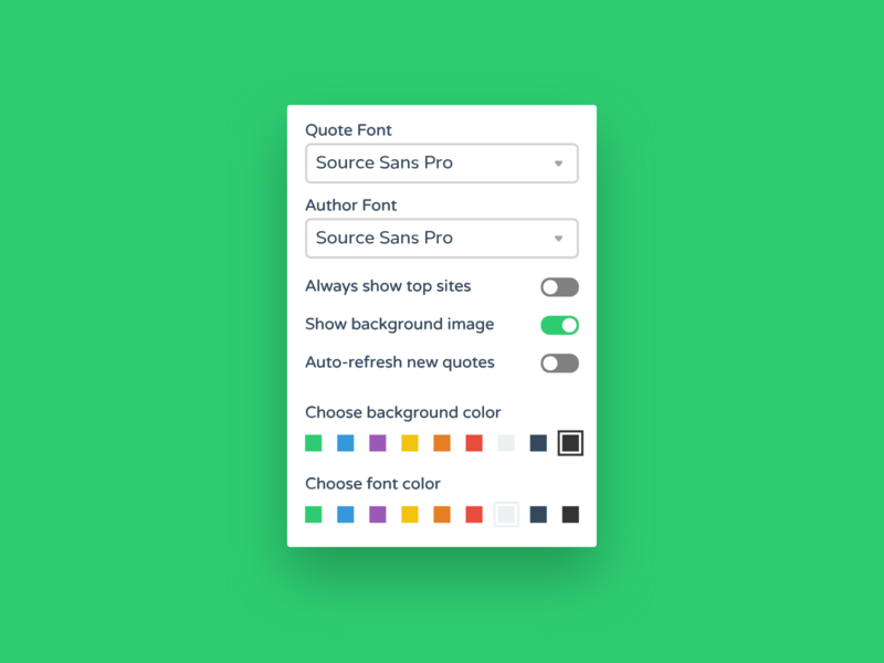Daily UI #007 – Settings by Emil Carlsson on Dribbble