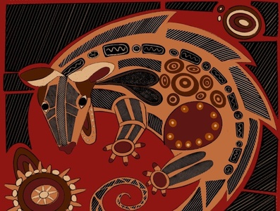 Australian Possum) digitalart digital design illustration