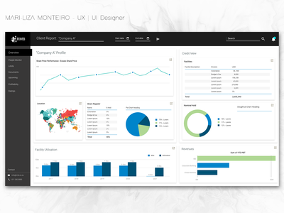 Data Visualisation Dashboard - Power BI power bi interaction design ui ux data datavisualisation dashboard
