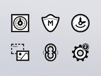 Revisited service icons set