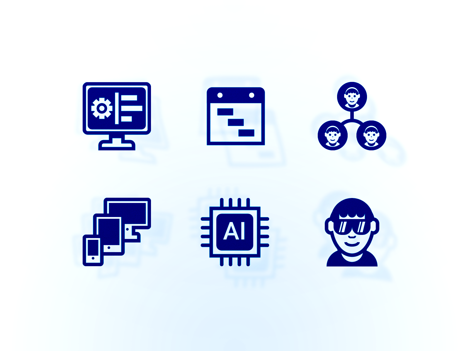 Field service edge product page icon illustrations