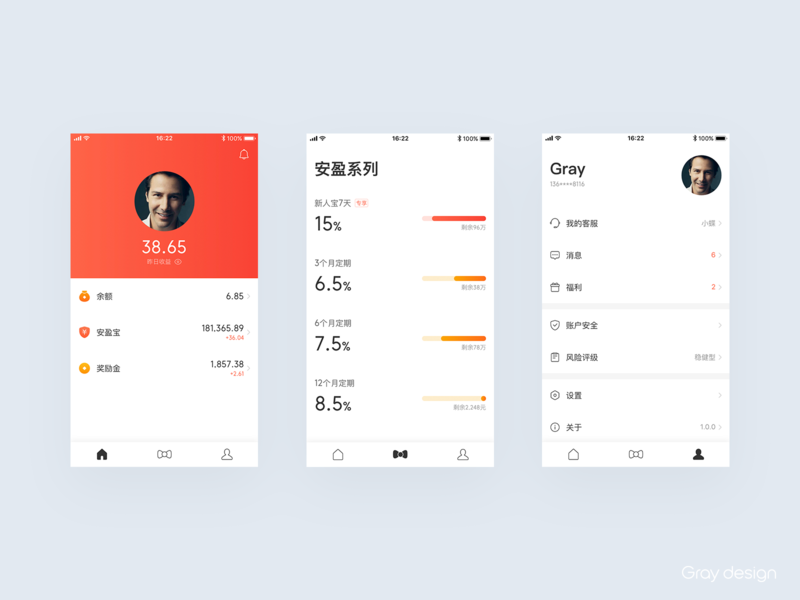 Financial management UI @GrayKam graydesign gray kam app icon ui financial