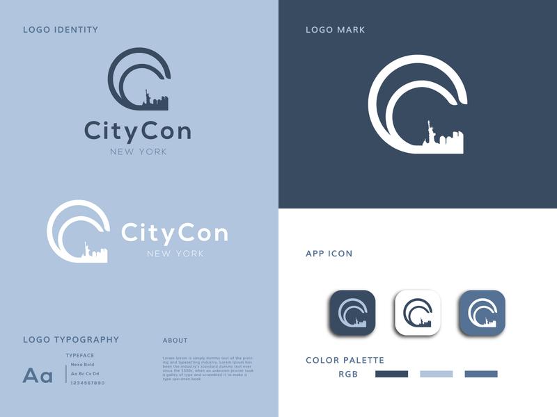CityCon Random Logo Idea logodesign logo citycon flat design creative logo branding design branding brand identity app icon design app icon app abstract logo