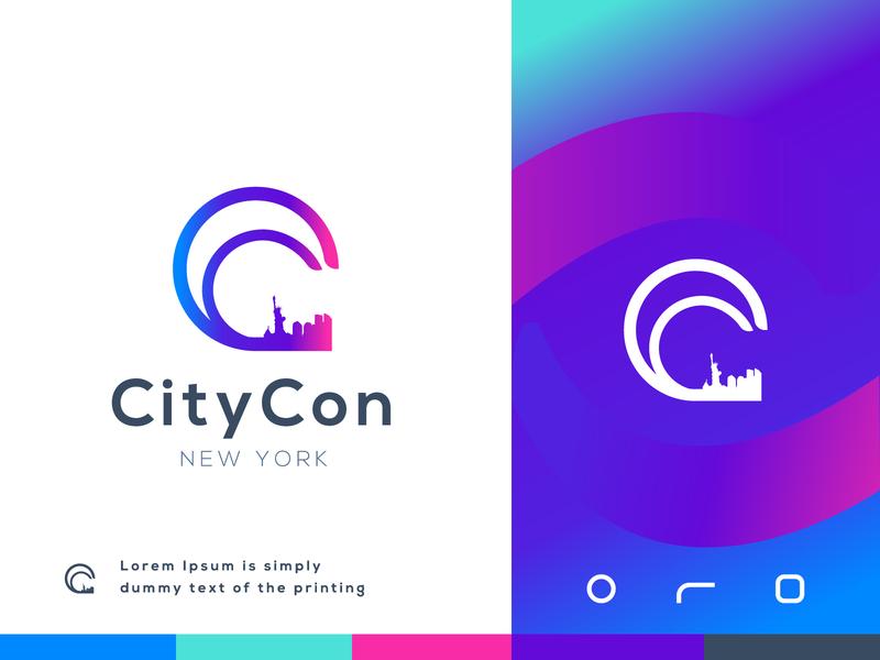 CityCon Gradient gradient logo modern logo citycon branding app icon creative logo branding design brand identity abstract logo logo