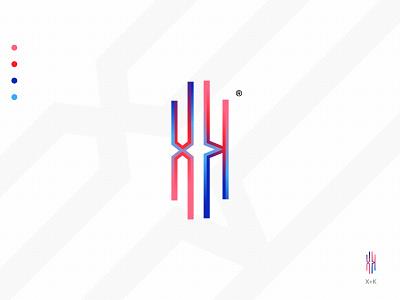 Letter X+K Modern Logo Mark Concepts creative logo logo symbol brand mark brandidentity branding abstract logo modern logo k letter logo x letter logo lettermark logo designer logodesign logoset logomaker logomarks logomark logotype logos logo