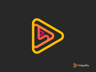 VideoFlix Logo and App Icon For Online Video Streaming App logodesign brand identity brand app mark brand application branding video app icon streaming app icon streaming app modern logo designer modern logo design modern logos modern logo modern app icon app icon design app icon logomark symbol logo symbol logomark logos logo