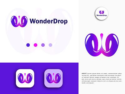 WonderDrop Modern Logo Design app icon design app icon creative logo abstract mark abstract logo abstract gradient logo d letter logo brandidentity branding w letter logo lettermarklogo lettermark modern logo logodesigner logodesign logomarks logomark logos logo