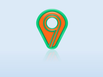 3D Glossy Place App Icon brandidentity branding abstract mark abstract logo abstract art 3d app icon app icon design app icon 3d designer 3d design 3d glossy 3d art 3d logo designer logo design logomark logos logo