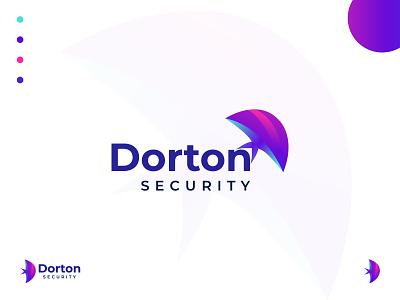 Dorton Security Logo Design  for Antivirus Software Brand clean minimalist flat abstract logo creative logo modern logo 2121 modern logo brand identity security logo security antivirus brand design logo designer logodesign logo symbol brand mark logomarks logos logo