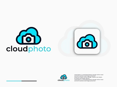 Cloud Photo Logo Design for online photo protection abstract logo brand identity branding creative logo cloud storage online service modern logodesign modern logo cloud photos photos cloud logo cloud logodesigner logomark logodesign logos logo