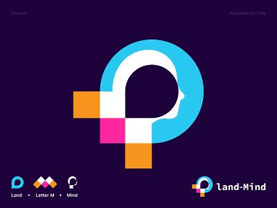 Mind Mapping Logo Land Mind location lettering minimalism minimalist modern mobile minimal mind map mindset mind logotype logodesign logomark logos brand identity abstract logo branding creative logo modern logo logo