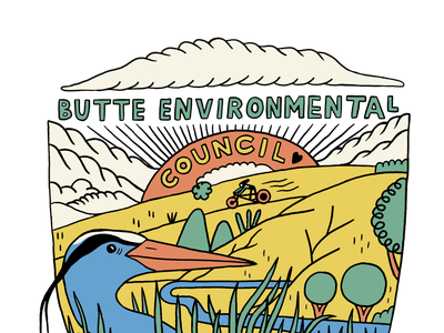Butte Environmental Council Logo riff illustrator typography ui illustration branding logo design