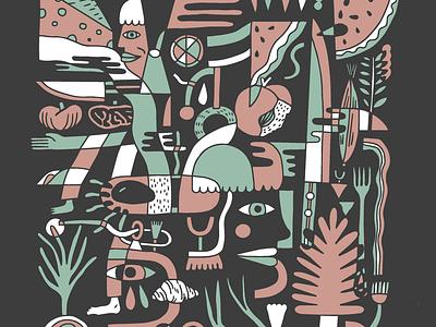 HeartwoodForge merch merchandise typography procreate logo illustrator branding illustration design