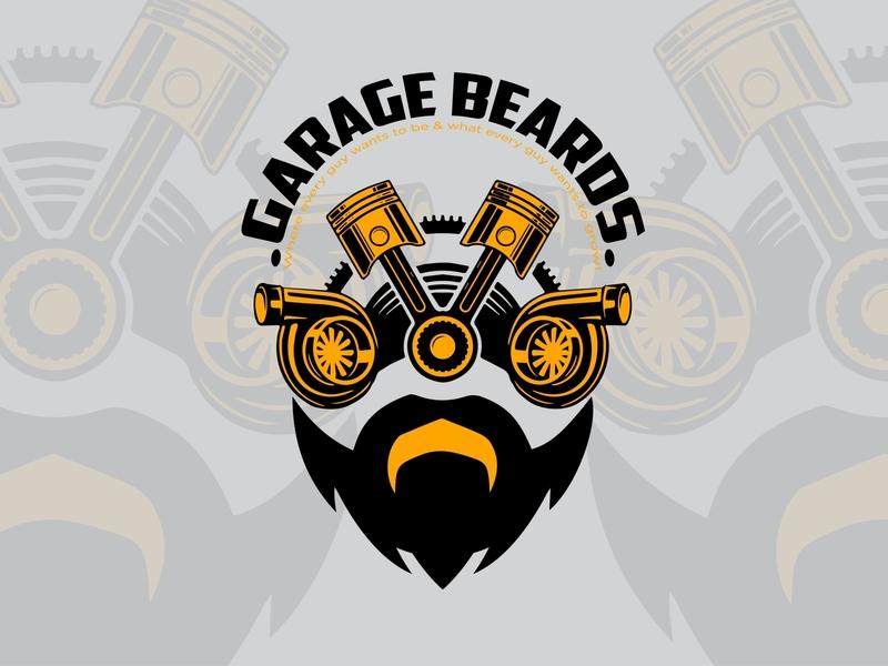 Brand identity for custom garage logo identity illustraion custom design vintage design vintage logo logodesign branding brand identity