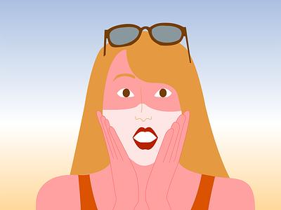 Saulės kremo reklamos maketas illustrator comercial illustration