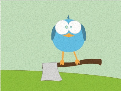 Twitter twitter bird blue green