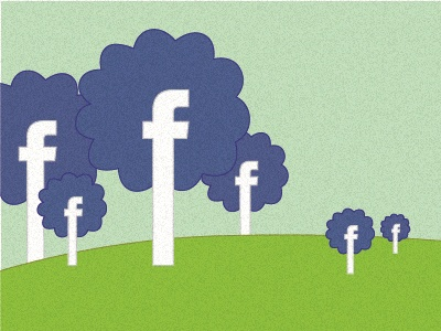 Facebook facebook blue green