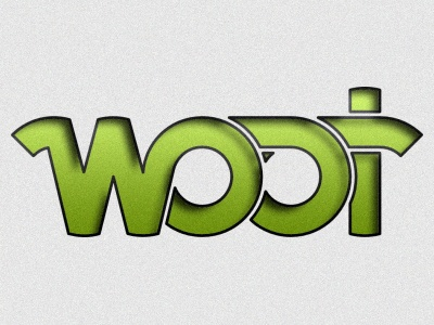 Woot logo green