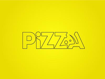 Pizza outline minimal logo design minimal icon creative logo design custom logo illustration illustrator vector minimalist logo design logo