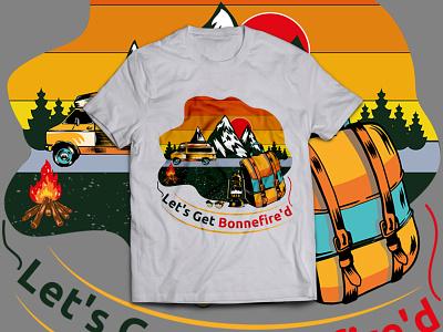 Camp T-shirt Design illustration art campfire camp illustraion t shirts t-shirts t-shirt mockup t-shirt illustration t shirt designer t-shirt design t shirt design t shirt art t-shirt t shirt