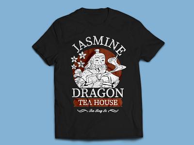 Dragon Tea House T-shirt Design typography illustration t-shirt t shirt design typography art t-shirt design t-shirt illustration t shirt designer t shirt art t shirt