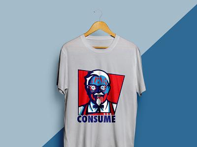 CONSUME illustration T-shirt Design t-shirt t-shirts illustration typography t shirt design t-shirt design t shirt designer t-shirt illustration t shirt art t shirt