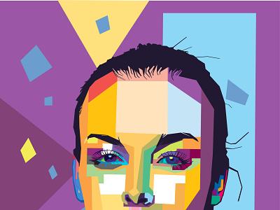 wpap pop art portrait style flat vector vector art illustration pop art portrait wpap
