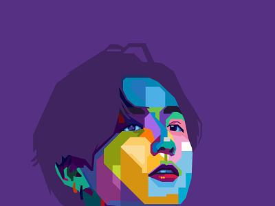 wpap pop art potrait vector illustration potrait pop art illustration colorful vector art vector wpap