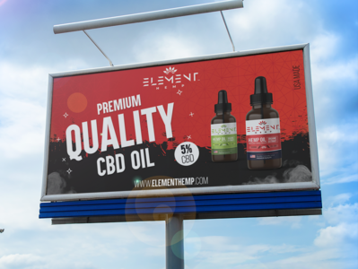 Element Hemp Advert and Label Design abstract modern advert cbd hemp hemp oil design label design