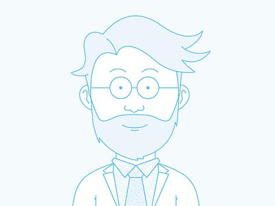 Mr. Appstein seoshop illustration avatar beard character face portrait