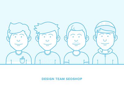 Designteam SEOshop avatar illustration team seoshop person character