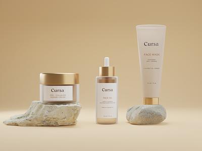Cursa - Cosmetic Packaging Branding Design packaging packagingdesign packagingpro brand design kit logo brand design design illustration ux ui branding
